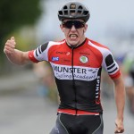 14 July 2017; Ronan Tuomey of Tarrant Skoda Munster team after winning Stage 4 of the Scott Junior Tour 2017 at the Wild Atlantic Way, Co Clare. Photo by Stephen McMahon/Sportsfile *** NO REPRODUCTION FEE ***