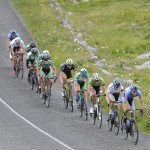 14 July 2017; A general view of the action as the race passes through the Burren during Stage 4 of the Scott Junior Tour 2017 at the Wild Atlantic Way, Co Clare. Photo by Stephen McMahon/Sportsfile *** NO REPRODUCTION FEE ***