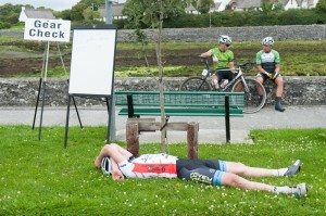 14 July 2017; Eoghan McLoughlin of Connacht Team, recovers at the finish of Stage 4 of the Scott Junior Tour 2017 at the Wild Atlantic Way, Co Clare. Photo by Stephen McMahon/Sportsfile *** NO REPRODUCTION FEE ***