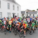 14 July 2017; A general view of the peloton at the start in Ballyvaughan of Stage 4 of the Scott Junior Tour 2017 at the Wild Atlantic Way, Co Clare. Photo by Stephen McMahon/Sportsfile *** NO REPRODUCTION FEE ***