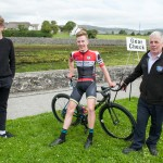 14 July 2017; Winner of the stage Ronan Tuomey of Taggart Skoda Munster team with his brother Simon, right, and team manager Dan Curtin after the finish of Stage 4 of the Scott Junior Tour 2017 at the Wild Atlantic Way, Co Clare. Photo by Stephen McMahon/Sportsfile *** NO REPRODUCTION FEE ***