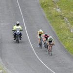 14 July 2017; A general view of the action as the breakway passes through the Burren during Stage 4 of the Scott Junior Tour 2017 at the Wild Atlantic Way, Co Clare. Photo by Stephen McMahon/Sportsfile *** NO REPRODUCTION FEE ***