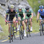 14 July 2017; Conor Schunk of Hincapie Development team leads the breakaway during Stage 4 of the Scott Junior Tour 2017 at the Wild Atlantic Way, Co Clare. Photo by Stephen McMahon/Sportsfile *** NO REPRODUCTION FEE ***