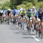 14 July 2017; Conor Gallagher of Connacht Team leads the peloton during Stage 4 of the Scott Junior Tour 2017 at the Wild Atlantic Way, Co Clare. Photo by Stephen McMahon/Sportsfile *** NO REPRODUCTION FEE ***