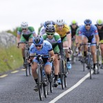 14 July 2017; Lane Maher of Hot Tubes leads the peloton during Stage 4 of the Scott Junior Tour 2017 at the Wild Atlantic Way, Co Clare. Photo by Stephen McMahon/Sportsfile *** NO REPRODUCTION FEE ***
