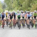 15 July 2017; A general view of the peloton during Stage 5 of the Scott Junior Tour 2017 at Gallows Hill, Co Clare. Photo by Stephen McMahon/Sportsfile *** NO REPRODUCTION FEE ***