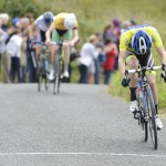 15 July 2017; Cameron Orr of Lucan Cycling Road Club at the finish of Stage 5 of the Scott Junior Tour 2017 at Gallows Hill, Co Clare. Photo by Stephen McMahon/Sportsfile *** NO REPRODUCTION FEE ***