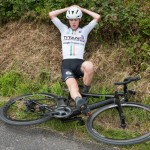 15 July 2017; Sean Kennedy of NRPT Titan Containers at the finish of Stage 5 of the Scott Junior Tour 2017 at Gallows Hill, Co Clare. Photo by Stephen McMahon/Sportsfile *** NO REPRODUCTION FEE ***