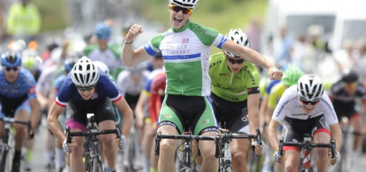 16July 2017; John Butler of Cycling Ulster after winning Stage 6 of the Scott Junior Tour 2017 in Ennis, Co Clare. Photo by Stephen McMahon/Sportsfile *** NO REPRODUCTION FEE ***