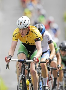 16July 2017; Race leader Ben Walsh of Ireland National Team in action during Stage 6 of the Scott Junior Tour 2017 in Ennis, Co Clare. Photo by Stephen McMahon/Sportsfile *** NO REPRODUCTION FEE ***
